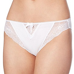 Debenhams - White microfibre high leg briefs
