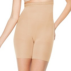Spanx - Natural high waisted shaping shorts