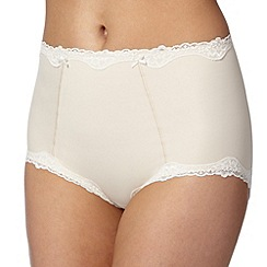 Debenhams - Natural lace trimmed light control shaping briefs