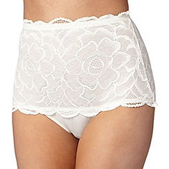 Debenhams - Ivory rose bandeau shaping briefs