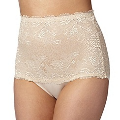 Debenhams - Natural leopard lace medium control shaping briefs