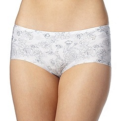 Debenhams - Pale grey floral seamless shorts