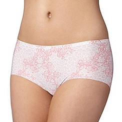 Debenhams - Pink animal floral 'invisible' shorts