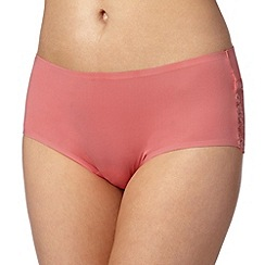 Debenhams - Peach lace back 'invisible' shorts