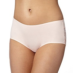 Debenhams - Pale peach lace back 'invisible' shorts