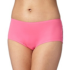 Debenhams - Bright pink lace back 'invisible' shorts