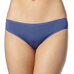 Debenhams - Blue lace trim seamless brazilian briefs