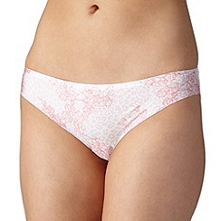 Debenhams - Pale pink animal print seamless brazilian briefs