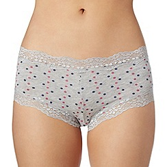 Debenhams - Grey spotted shorts