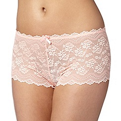 Debenhams - Light peach lace shorts