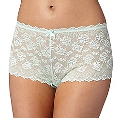 Debenhams - Light green lace shorts