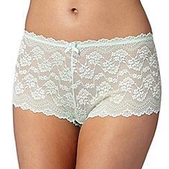 Debenhams - Light green lace shorts