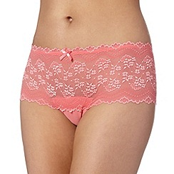Debenhams - Peach lace shorts