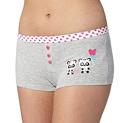 Debenhams - Grey panda placement boxers