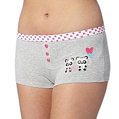 Debenhams - Grey panda placement boxers
