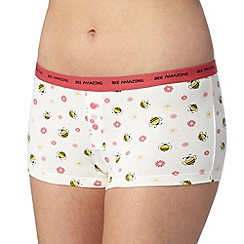 Debenhams - White 'Bee Amazing' boxers