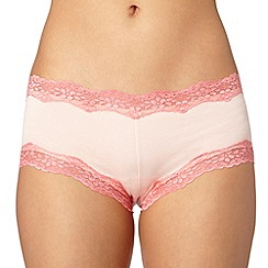Debenhams - Peach floral lace shorts