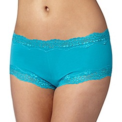 Debenhams - Turquoise lace trimmed shorts