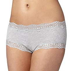 Debenhams - Grey lace trimmed shorts