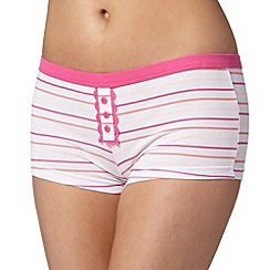 Debenhams - Peach multi striped boxers