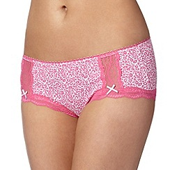 Debenhams - Bright pink leopard print shorts