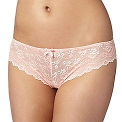 Debenhams - Light peach lace thong