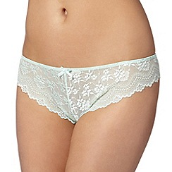 Debenhams - Light green lace thong