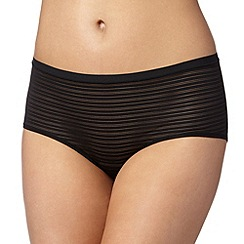 Debenhams - Black burnout striped 'invisible' shorts