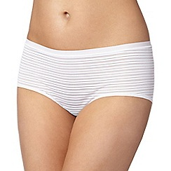 Debenhams - White burnout striped 'invisible' shorts
