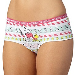 Debenhams - White 'Snoopy' printed boxers