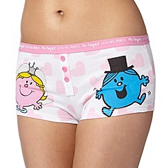 Debenhams - Light pink 'Mr and Mrs' boxers
