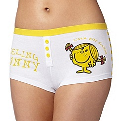 Debenhams - Yellow 'Little Miss Sunshine' boxers
