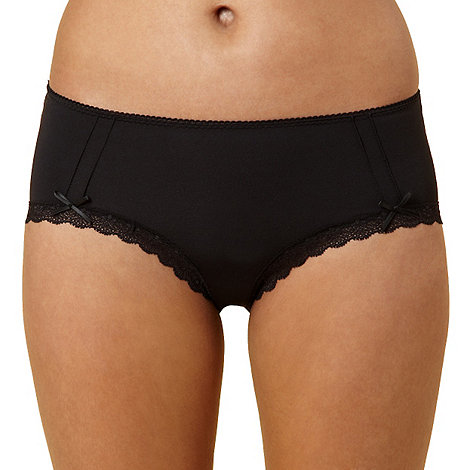 Debenhams - Black microfibre shorts