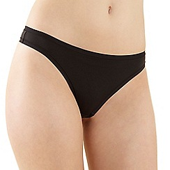 Debenhams - Black invisible soft thong