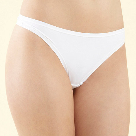Debenhams - White invisible soft thong