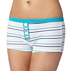 Debenhams - Blue multi striped boxers
