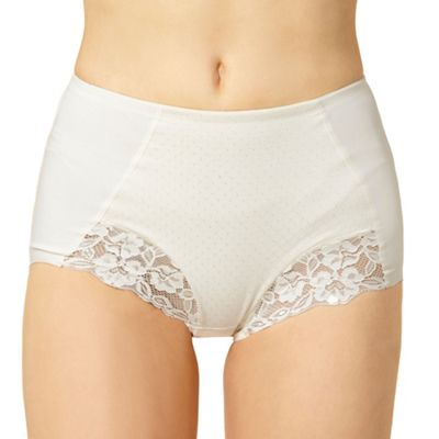 Ivory spotted jacquard shaper knickers
