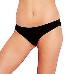 Debenhams - Black lace back 'invisible' Brazilian briefs