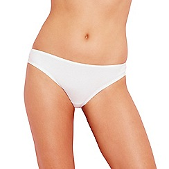 Debenhams - White lace back 'invisible' Brazilian briefs
