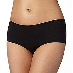 Debenhams - Black lace back 'invisible' shorts