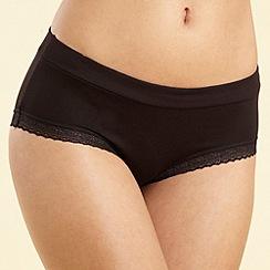 Debenhams - Black lace trim shorts