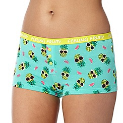 Debenhams - Green pineapple print shorts