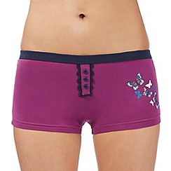 Debenhams - Purple butterfly print boxers