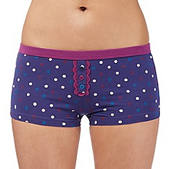 Debenhams - Bright blue spotted lace boxers
