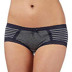 Debenhams - Navy striped super soft shorts