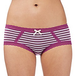 Debenhams - Purple striped modal shorts