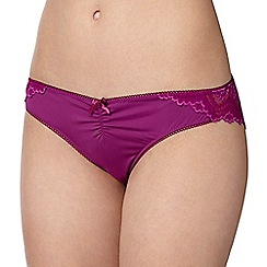 Debenhams - Purple floral lace brazilian briefs