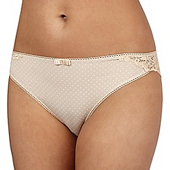 Debenhams - Natural spotted high leg briefs