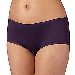 Debenhams - Plum 'invisible' lace trim shorts