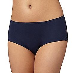 Debenhams - Navy lace back 'invisible' shorts